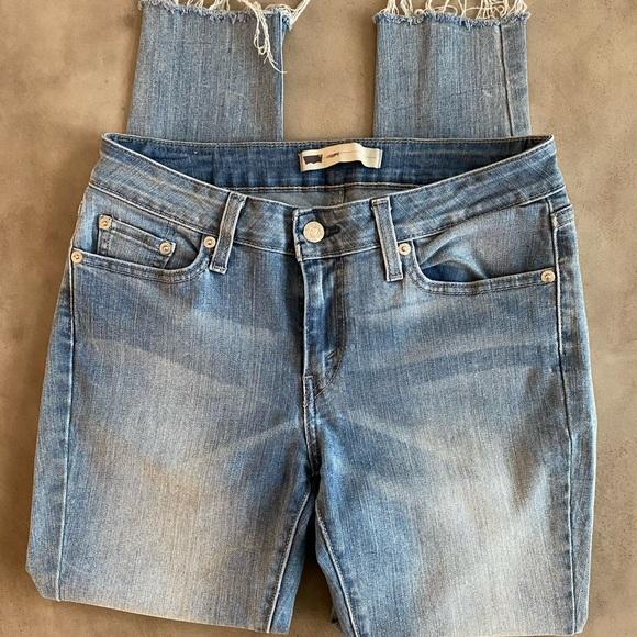 Levi's denim legging jeans, cutoff skinny jeans 29